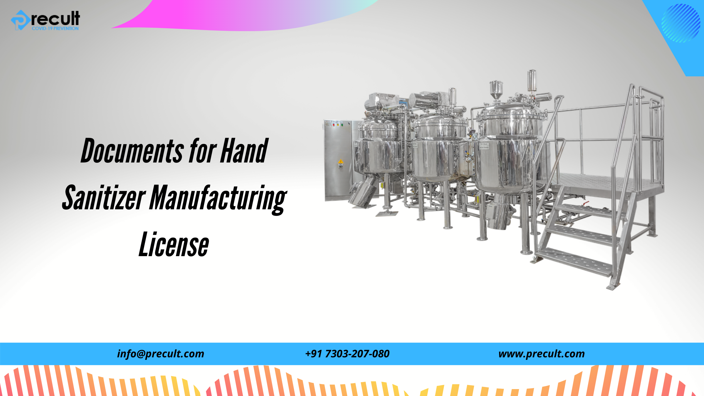 Documents for Hand Sanitizer Manufacturing License